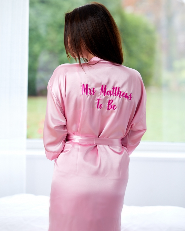 Ladies Long Length Satin Gown