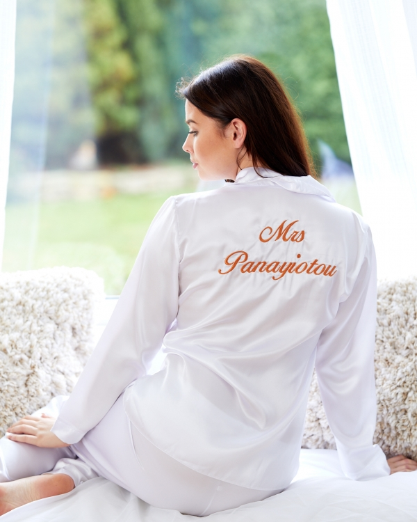 White Satin Pyjamas