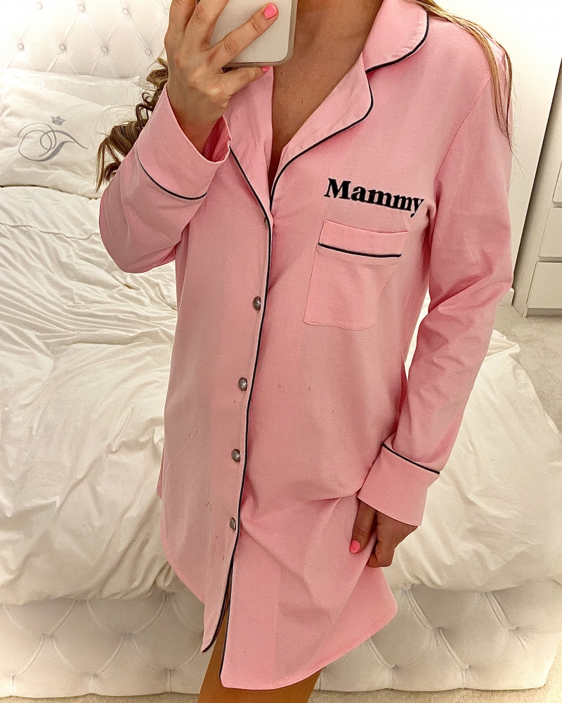 Childrens Personalised Jersey Cotton Night Shirt