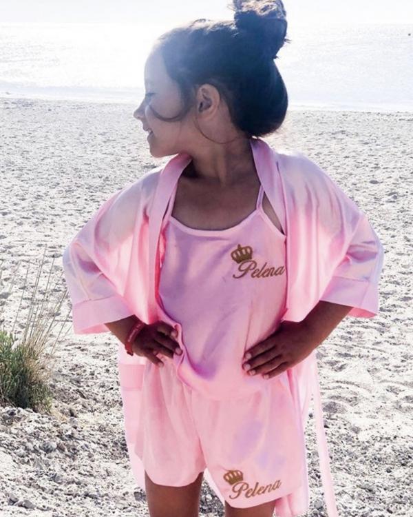 Childrens Satin Cami pyjamas