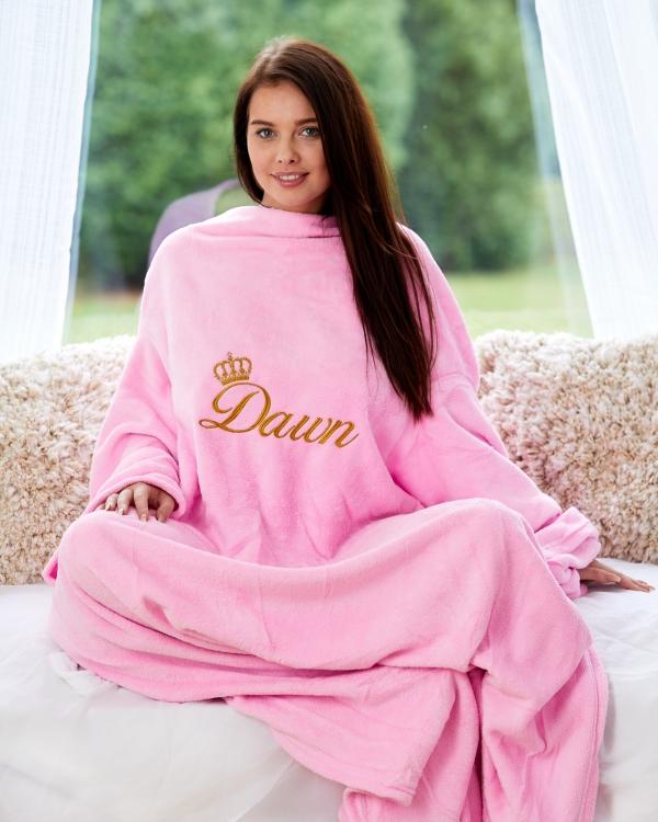 Unisex Luxury Personalised Blanket with sleeves