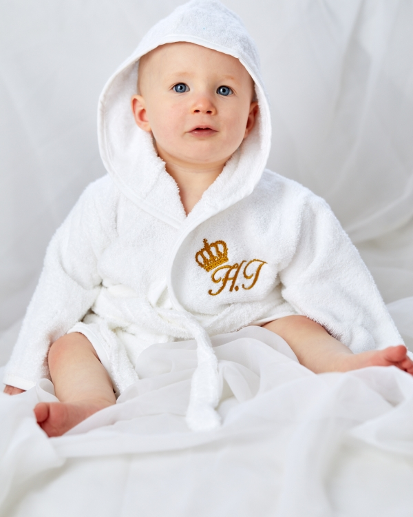 100% Cotton Dressing Gown Personalised Bathrobe with personalised back