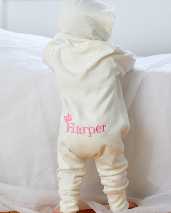 Personalised Toddler all-in-one with back embroidery