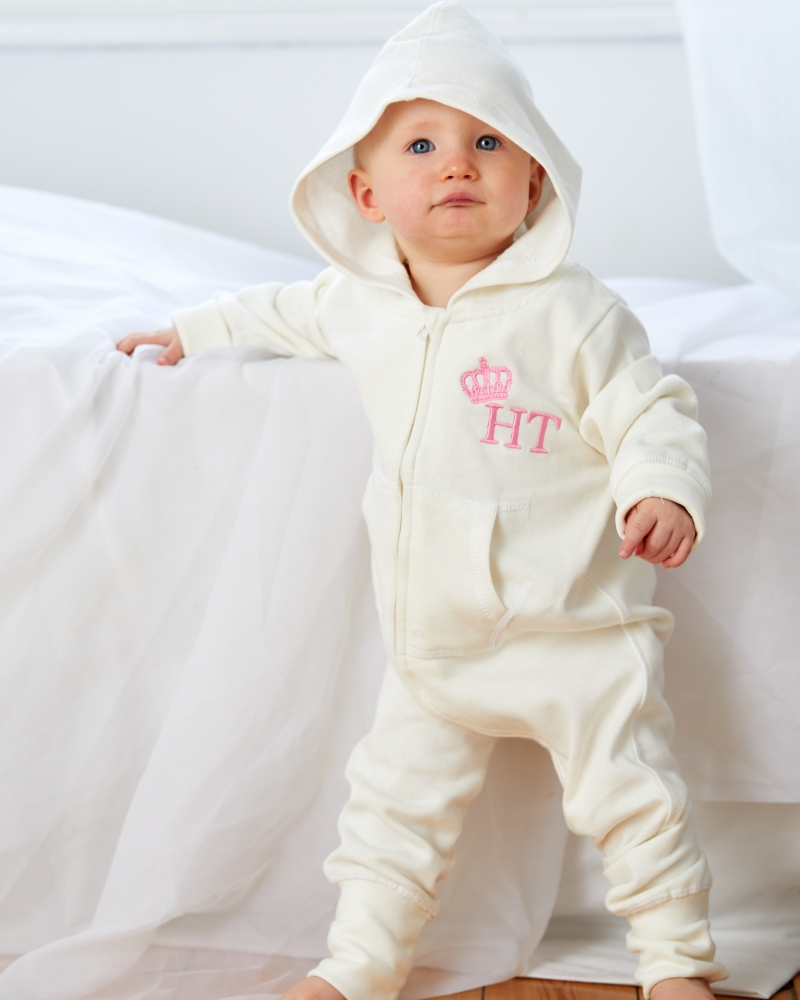 Personalised Toddler all-in-one with left chest embroidery