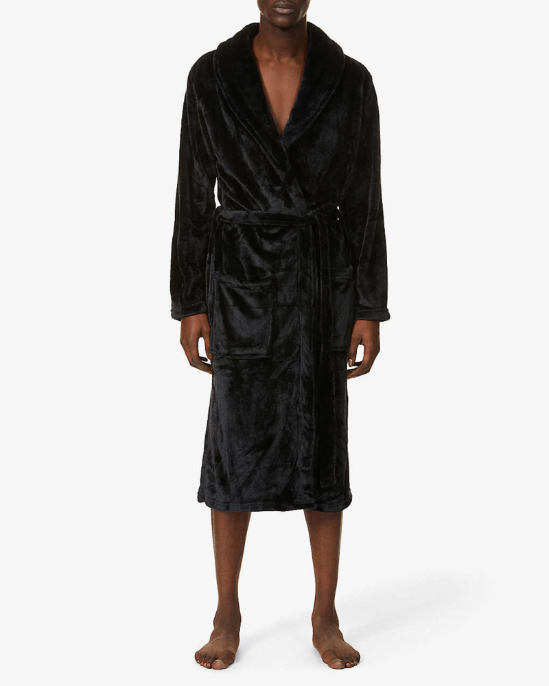Mens Soft Fleece Personalised Dressing Gown
