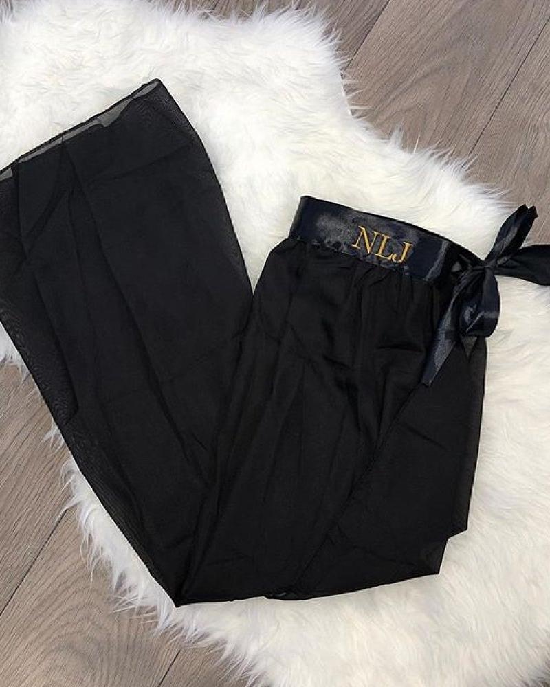 Ladies personalised chiffon beach skirt