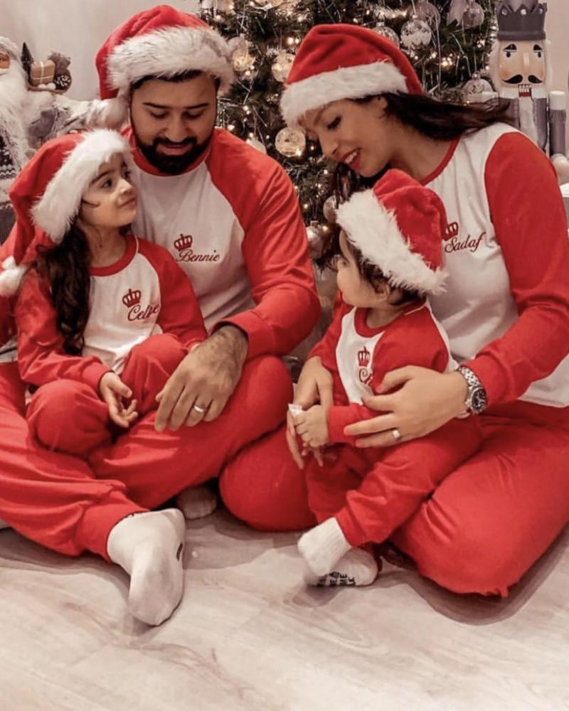 Personalised Mens Jersey Cotton Long Sleeve Pyjama Set - Red
