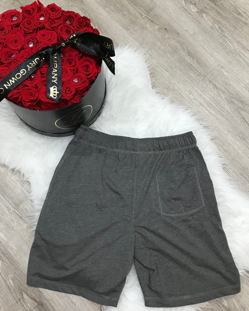 Mens personalised cotton lounge shorts