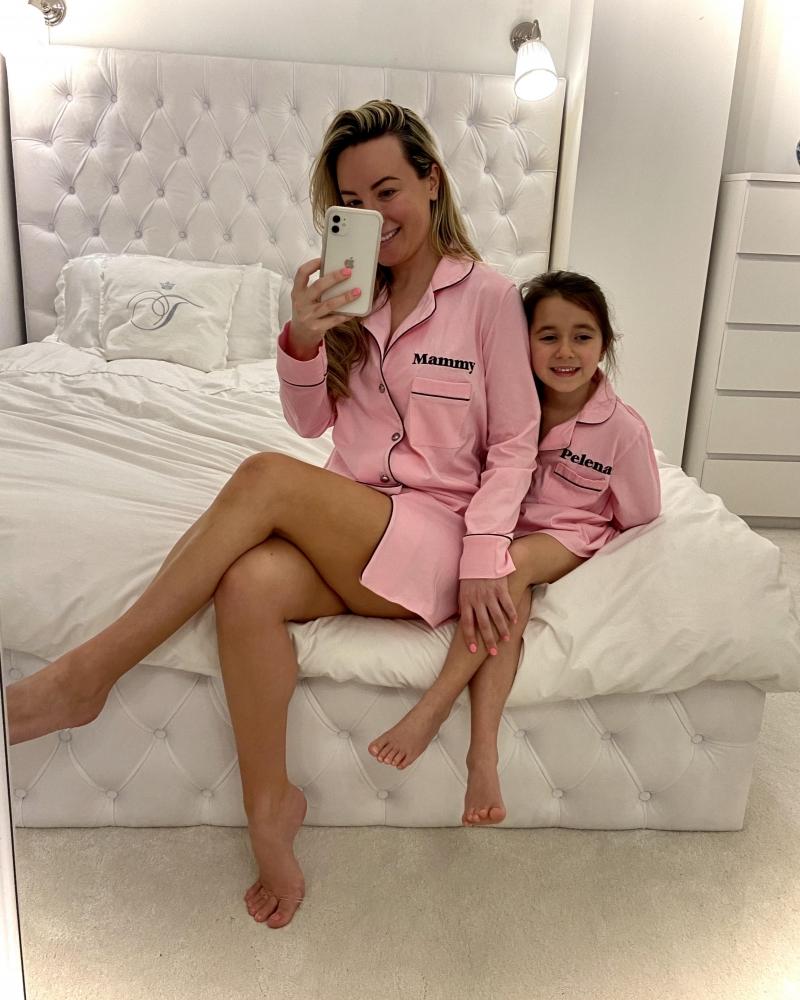 Personalised Ladies Jersey Cotton Night Shirt