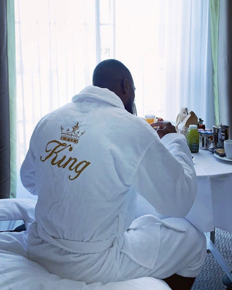 Mens Luxury 100% Cotton Personalised Bathrobe
