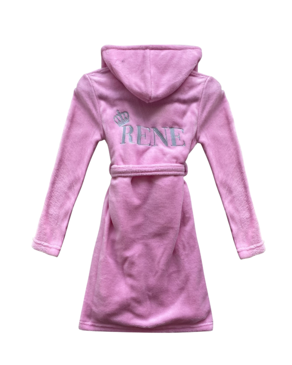 Girls Baby Pink Soft Fleece Personalised Dressing Gown