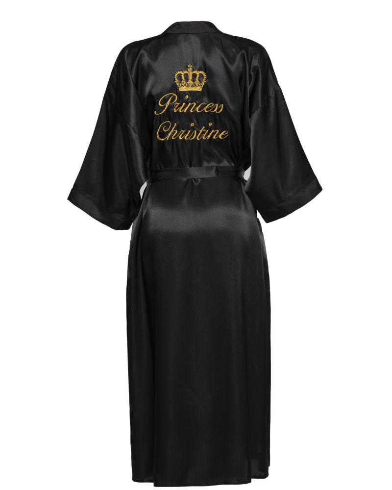 Long Length Personalised Satin Robe