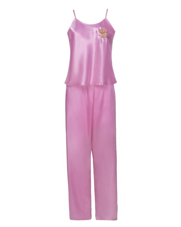 Womens Personalised Satin Cami Top & Long Leg Pyjamas