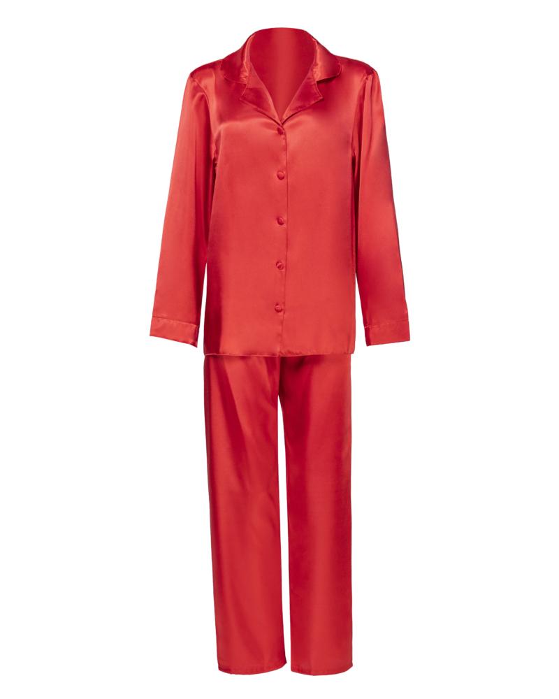 Red Persoanlised Satin Pyjamas